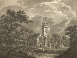 A view of Willsden church near Edgeware, Middlesex
